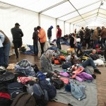 Refugee relief work Munich center Nov 22